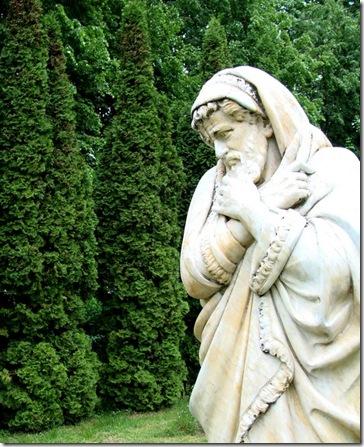 Качанівка, паркова скульптура Осінь
