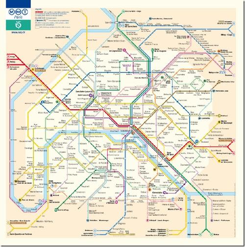 Паризьке метро, схема