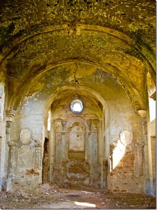 Межирів, склепіння костелу