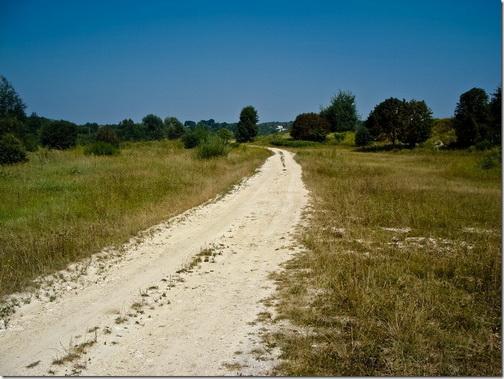 Дорога біля Межирова