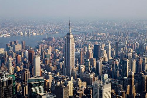 nyc037 Нью Йорк сверху