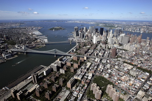 nyc060 Нью Йорк сверху