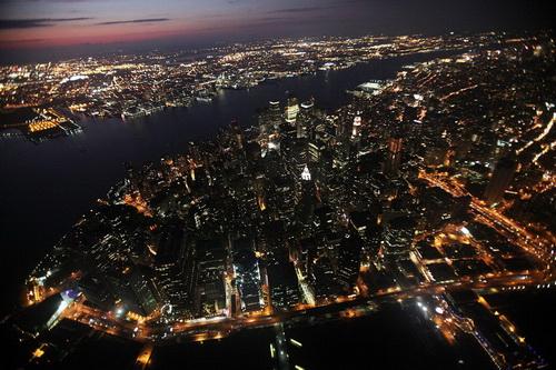 nyc064 Нью Йорк сверху
