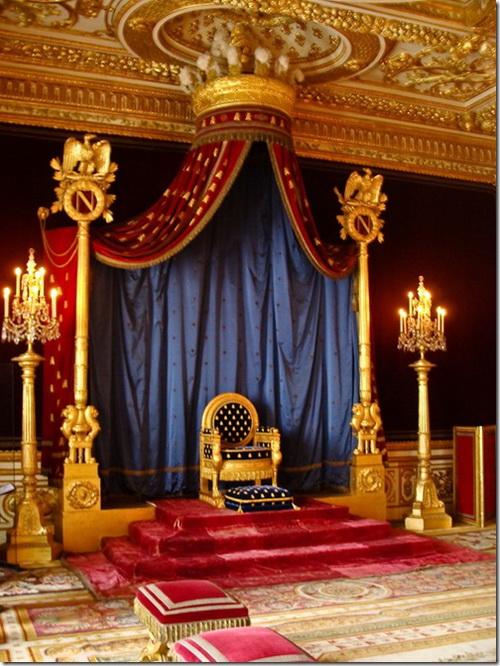 Фонтенбло, замок, тронна зала