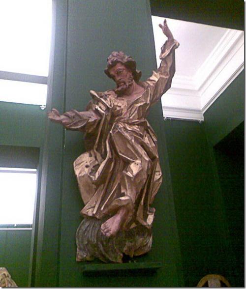 Скульптура апостола Петра, з церкви у Чоповичах, 1774-75. Фото Turzh