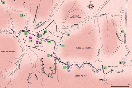 General Plan of Петра and its surroundings